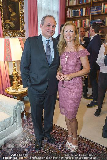 Privatempfang für Franz Patay - Privatwohnung Sarata - Mo 16.09.2019 - Franz PATAY mit Ehefrau Bettina26