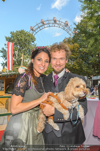 Wiener Wiesn Opening - Prater, Wien - Do 26.09.2019 - THE CLAIRVOYANTS (Amélie VAN TASS & Thommy TEN) mit Hund Mr. Ko444