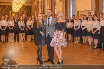 Vortanzen für den Opernball 2020 - Wiener Staatsoper - Sa 05.10.2019 - Maria GROßBAUER (GROSSBAUER), Christoph und Maria SANTNER, Deb30