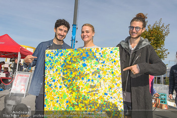 Promi Bungee Jumping - Parndorf Fashion Outlet - Fr 11.10.2019 - Nadiv und Nuriel MOLCHO, Nicole WESNER26