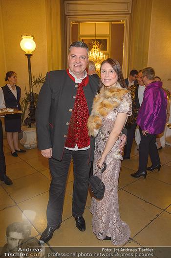 Richard Lugner 87er - Palais Auersperg - Sa 12.10.2019 - Anastasia (SOKOL) und Uli WÜLLENWEBER4