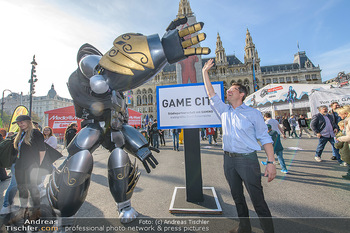 Game City Tag 1 - Rathaus Wien - Fr 18.10.2019 - Bürgermeister Michael LUDWIG und Stadtradt Jürgen CZERNOHORSZK1