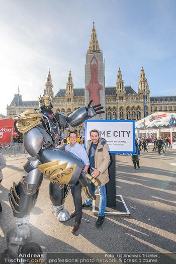 Game City Tag 1 - Rathaus Wien - Fr 18.10.2019 - Bürgermeister Michael LUDWIG und Stadtradt Jürgen CZERNOHORSZK341