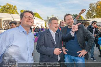 Game City Tag 1 - Rathaus Wien - Fr 18.10.2019 - Bürgermeister Michael LUDWIG und Stadtradt Jürgen CZERNOHORSZK347