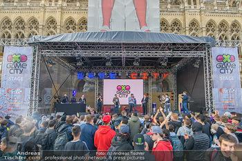 Game City Tag 1 - Rathaus Wien - Fr 18.10.2019 - Bürgermeister Michael LUDWIG und Stadtradt Jürgen CZERNOHORSZK356