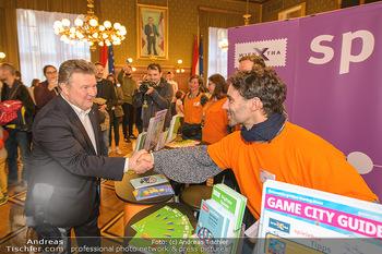Game City Tag 1 - Rathaus Wien - Fr 18.10.2019 - Bürgermeister Michael LUDWIG und Stadtradt Jürgen CZERNOHORSZK365