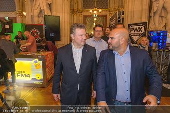 Game City Tag 1 - Rathaus Wien - Fr 18.10.2019 - Bürgermeister Michael LUDWIG und Stadtradt Jürgen CZERNOHORSZK375