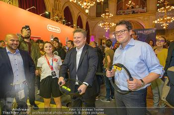 Game City Tag 1 - Rathaus Wien - Fr 18.10.2019 - Bürgermeister Michael LUDWIG und Stadtradt Jürgen CZERNOHORSZK380