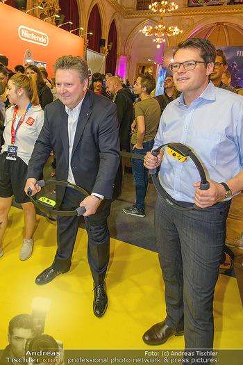 Game City Tag 1 - Rathaus Wien - Fr 18.10.2019 - Bürgermeister Michael LUDWIG und Stadtradt Jürgen CZERNOHORSZK382