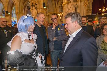 Game City Tag 1 - Rathaus Wien - Fr 18.10.2019 - Bürgermeister Michael LUDWIG und Stadtradt Jürgen CZERNOHORSZK386