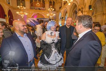 Game City Tag 1 - Rathaus Wien - Fr 18.10.2019 - Bürgermeister Michael LUDWIG und Stadtradt Jürgen CZERNOHORSZK387