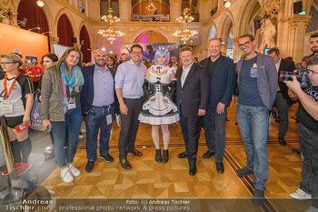 Game City Tag 1 - Rathaus Wien - Fr 18.10.2019 - Bürgermeister Michael LUDWIG und Stadtradt Jürgen CZERNOHORSZK389