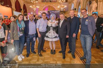 Game City Tag 1 - Rathaus Wien - Fr 18.10.2019 - Bürgermeister Michael LUDWIG und Stadtradt Jürgen CZERNOHORSZK390