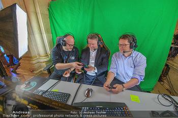 Game City Tag 1 - Rathaus Wien - Fr 18.10.2019 - Bürgermeister Michael LUDWIG und Stadtradt Jürgen CZERNOHORSZK396