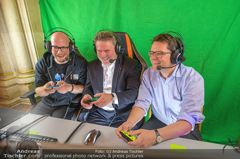 Game City Tag 1 - Rathaus Wien - Fr 18.10.2019 - Bürgermeister Michael LUDWIG und Stadtradt Jürgen CZERNOHORSZK397