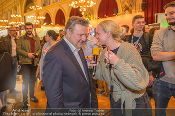 Game City Tag 1 - Rathaus Wien - Fr 18.10.2019 - Bürgermeister Michael LUDWIG und Stadtradt Jürgen CZERNOHORSZK402