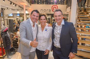 Winteropening - Nora Pure Sports Wien - Sa 19.10.2019 - Michaela DORFMEISTER mit Freund Thomas LERCH, Harald SAUER12