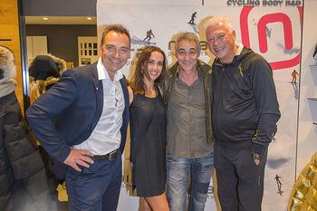 Winteropening - Nora Pure Sports Wien - Sa 19.10.2019 - Harald SAUER mit Ehefrau Alexandra, Christian CLERICI, Toni POLS140