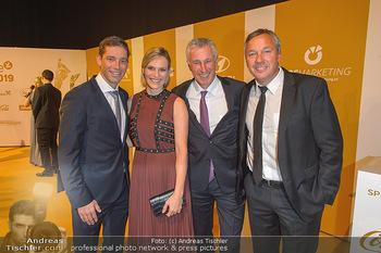 Sporthilfe Gala 2019 - Marx Halle Wien - Do 31.10.2019 - Benni und Marlies RAICH (SCHILD), Leonhard STOCK, Fritz STROBL1