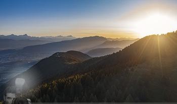 Österreich in Farben - Österreich - Do 31.10.2019 - Blick von der Gerlitzen im Sonnenuntergang auf Ossiachersee, Wö3