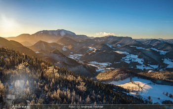 Österreich in Farben - Österreich - Do 31.10.2019 - Winter Niederösterreich NÖ Schnee Sonnenuntergang Idylle Hohe 74
