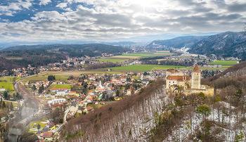 Österreich in Farben - Österreich - Do 31.10.2019 - Luftbild Niederösterreich Burg Seebenstein Wiener Becken Landsc80