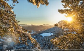 Österreich in Farben - Österreich - Do 31.10.2019 - Winter Niederösterreich NÖ Schnee Sonnenuntergang Idylle Hohe 83