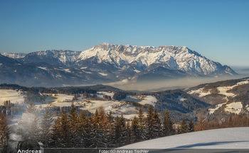 Österreich in Farben - Österreich - Do 31.10.2019 - Winter Salzburg Untersberg Kuchl Schnee blauer Himmel95