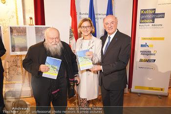 Buchpräsentation ´Kultur.Region.Europa´ - Bundesministerium für Europa, Integration und Äußeres, Wien - Mi 27.11.2019 - Erwin PRÖLL, Johanna MIKL-LEITNER, Hermann NITSCH104
