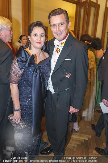 Philharmonikerball 2020 - Musikverein Wien - Do 23.01.2020 - Peter HANKE mit Ehefrau5