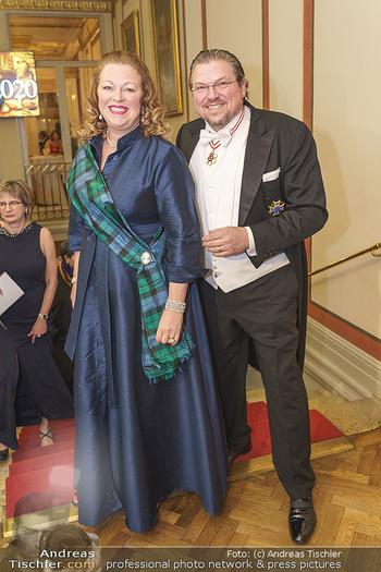 Philharmonikerball 2020 - Musikverein Wien - Do 23.01.2020 - Michael SCHADE mit Ehefrau Dee MCKEE21