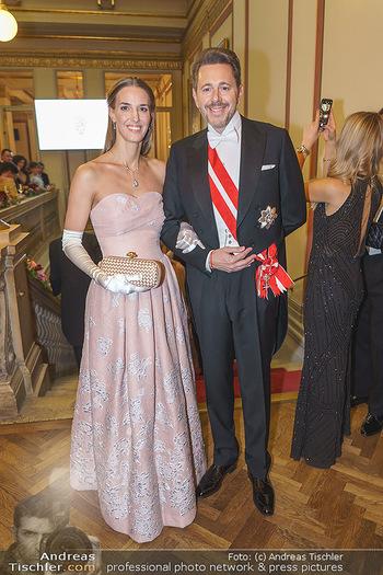Philharmonikerball 2020 - Musikverein Wien - Do 23.01.2020 - Harald MAHRER mit Ehefrau Andrea36
