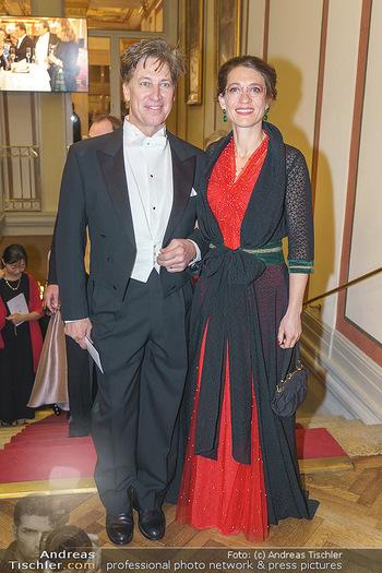 Philharmonikerball 2020 - Musikverein Wien - Do 23.01.2020 - Tobias MORETTI mit Ehefrau Julia67