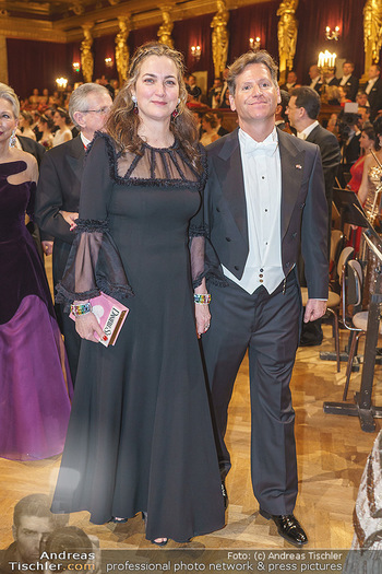 Philharmonikerball 2020 - Musikverein Wien - Do 23.01.2020 - Trevor D. TRAINA mit Ehefrau Alexis S.90