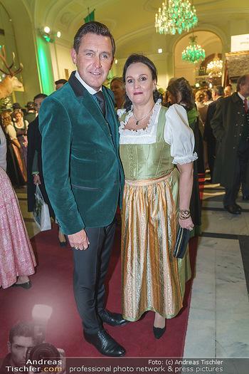 Jägerball - Hofburg Wien - Mo 27.01.2020 - Peter HANKE mit Ehefrau20