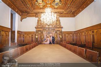 Ein Gemälde für Mikl-Leitner - Palais Niederösterreich, Wien - Mi 29.01.2020 - Christian und Ekaterina MUCHA17