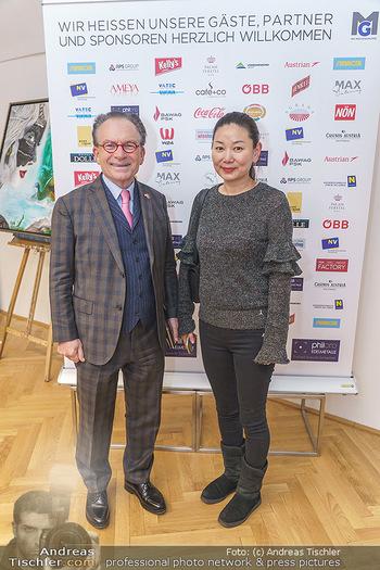 Ein Gemälde für Mikl-Leitner - Palais Niederösterreich, Wien - Mi 29.01.2020 - Georg ZANGER mit Begleitung30