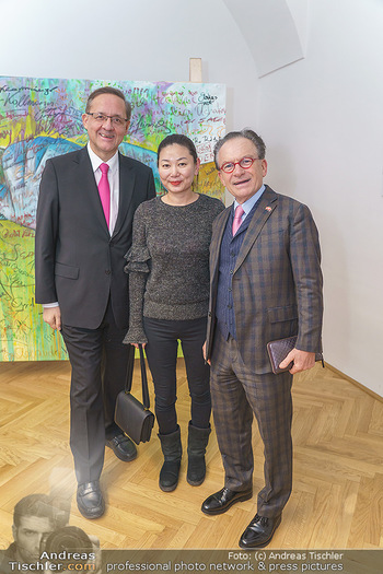 Ein Gemälde für Mikl-Leitner - Palais Niederösterreich, Wien - Mi 29.01.2020 - Georg ZANGER mit Begleitung, Günther OFNER31