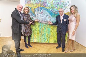 Ein Gemälde für Mikl-Leitner - Palais Niederösterreich, Wien - Mi 29.01.2020 - Johanna MIKL-LEITNER, Raimund SEIDL, Christian und Ekaterina MUC45
