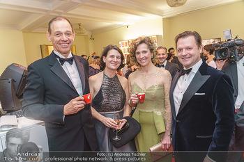 Kaffeesiederball 2020 - Hofburg Wien - Fr 14.02.2020 - Marcel LÖFFLER mit Ehefrau, Christina MEINL-ROHLA mit Ehemann30