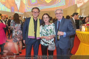 Fundraising Dinner - Leopold Museum, Wien - Di 18.02.2020 - Hans-Peter WIPPLINGER, Georg PÖLZL mit Ehefrau15