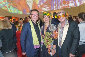 Fundraising Dinner - Leopold Museum, Wien - Di 18.02.2020 - Hans-Peter WIPPLINGER, Ernst HILGER mit Freundin Caroline37