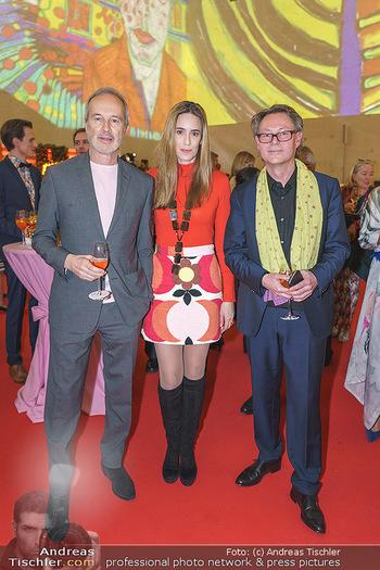 Fundraising Dinner - Leopold Museum, Wien - Di 18.02.2020 - Hans-Peter WIPPLINGER, Erwin WURM mit Ehefrau Elise45