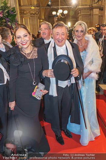 Opernball 2020 - Wiener Staatsoper - Do 20.02.2020 - Ornella MUTI, Richard LUGNER, Zebra Karin110