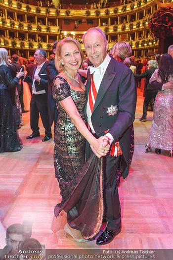 Opernball 2020 - Wiener Staatsoper - Do 20.02.2020 - Wolfgang RUTTENSTORFER mit Ehefrau Susanne238