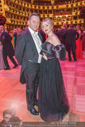 Opernball 2020 - Wiener Staatsoper - Do 20.02.2020 - Marcin KOTLOWSKI mit Ehefrau239
