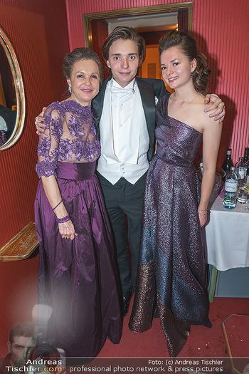 Opernball 2020 - Wiener Staatsoper - Do 20.02.2020 - Doris FELBER mit Kinder Steffanie und Franz-Josef255
