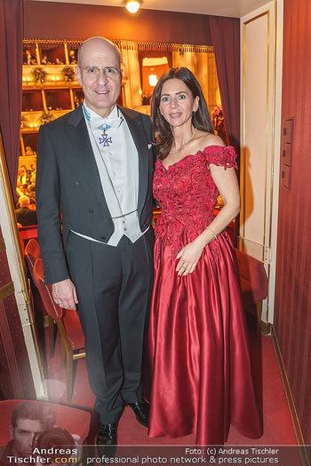 Opernball 2020 - Wiener Staatsoper - Do 20.02.2020 - Klemens JOOS mit Ehefrau Manuela279