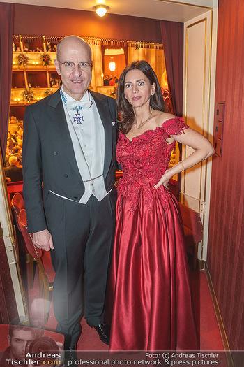 Opernball 2020 - Wiener Staatsoper - Do 20.02.2020 - Klemens JOOS mit Ehefrau Manuela280