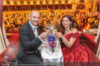 Opernball 2020 - Wiener Staatsoper - Do 20.02.2020 - Klemens JOOS mit Ehefrau Manuela281